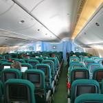 Keshtu dukej nga brenda aeroplani. Ishte i tipit Airbus a310 apo me i madh.