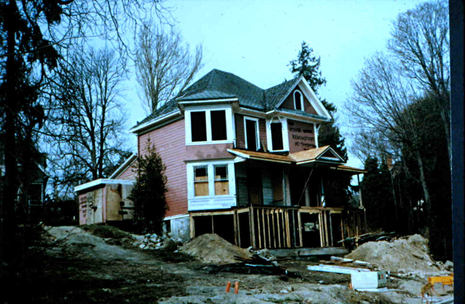1140 Arthur Currie Lane verandahs being built