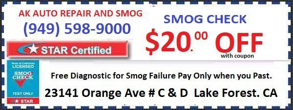A-K Auto Repair and Smog Lake Forest, CA