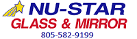nu-star glass and mirror logo