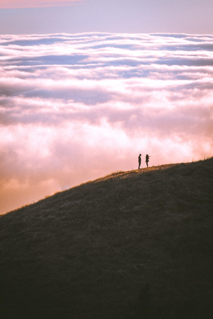 couple on a hill
