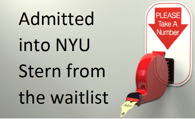 Admissions from NYU Stern Waitlist