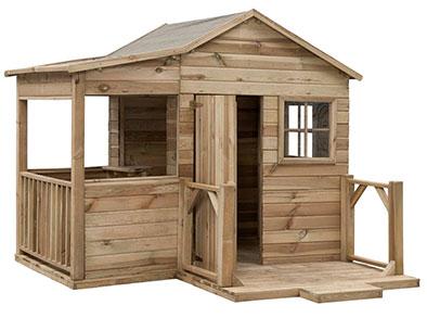 Swing King wooden playhouse