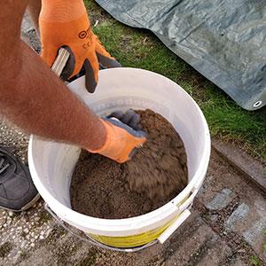 gestabiliseerd zand maken