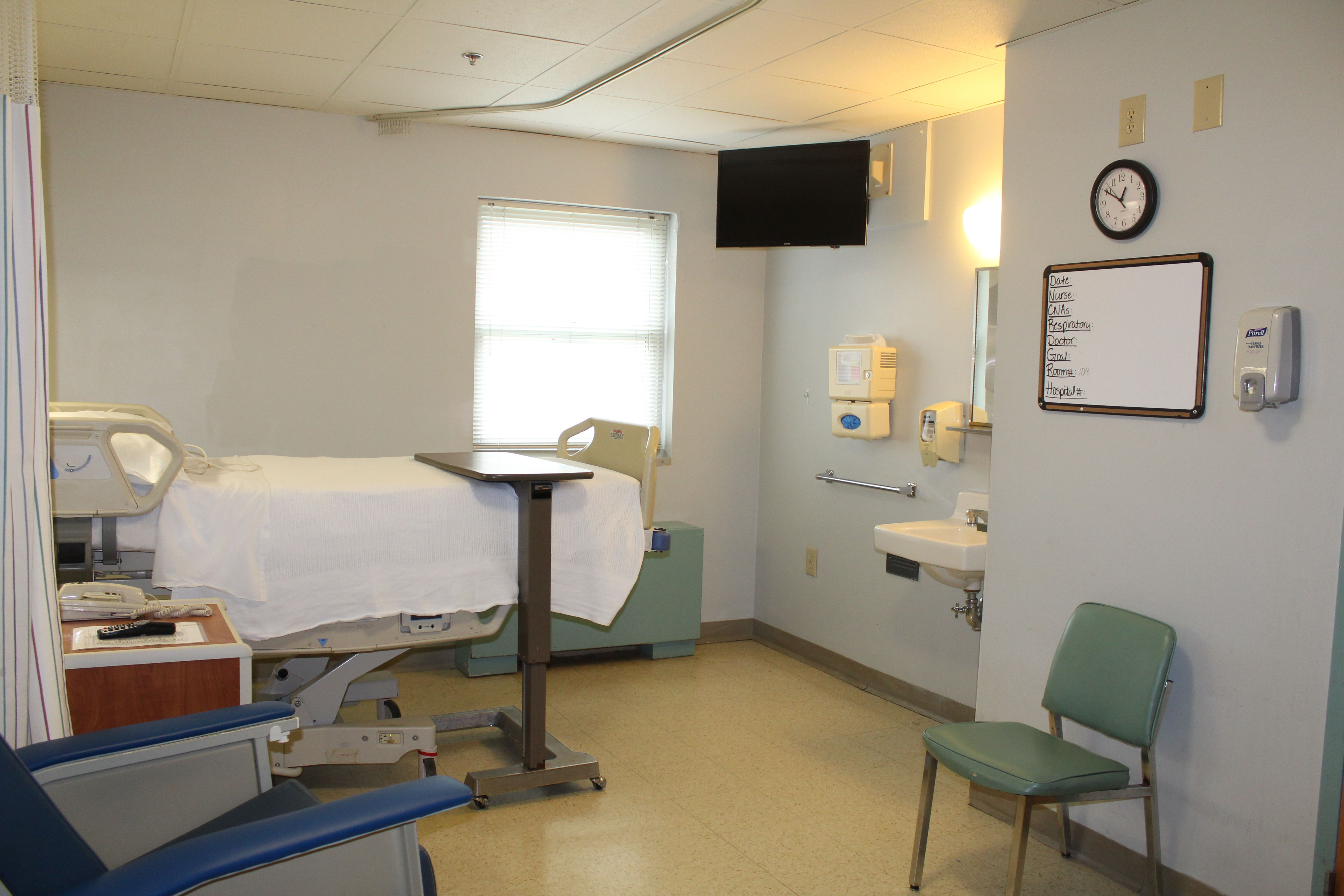 Patient room for the Swing Bed Program at LifeBrite Community Hospital of Stokes