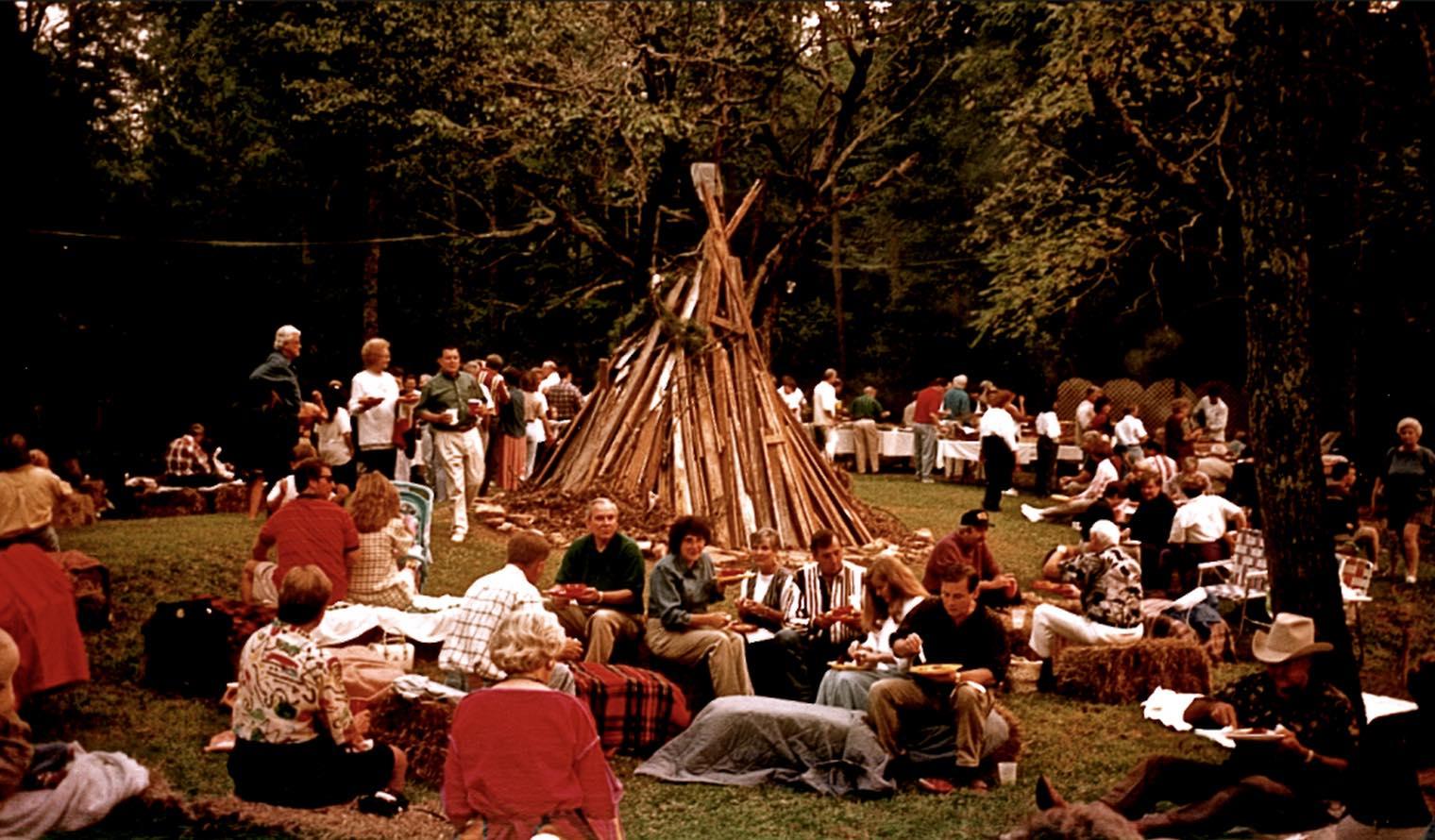 Vintage Bonfire Shot
