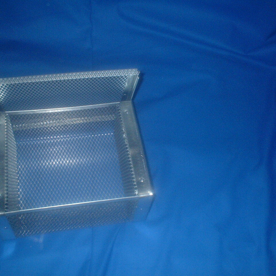 parts basket with lid open