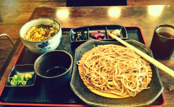 soba koh kani on rice lunch special