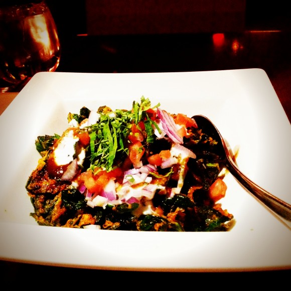 palak chaat or fried spinach