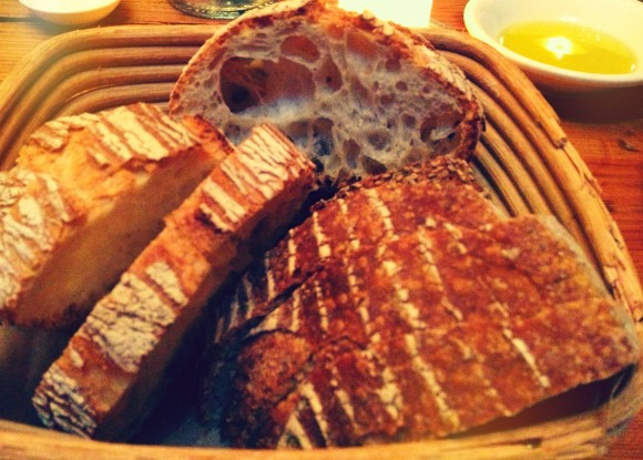 whole grain bread basket