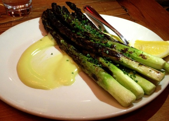 grilled asparagus and aioli