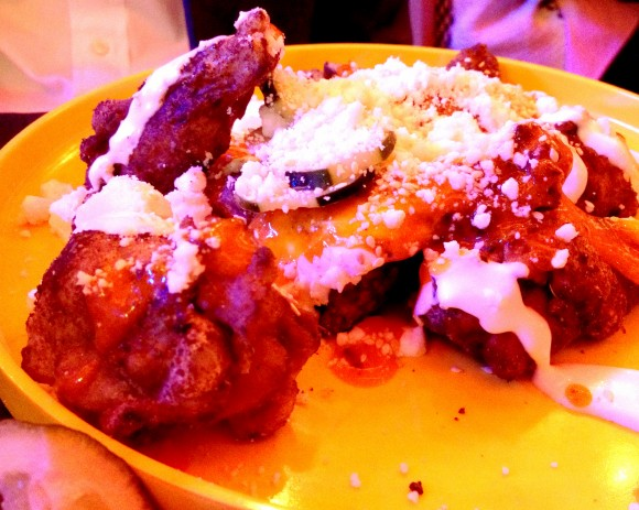 mission cantina - chicken wings close up