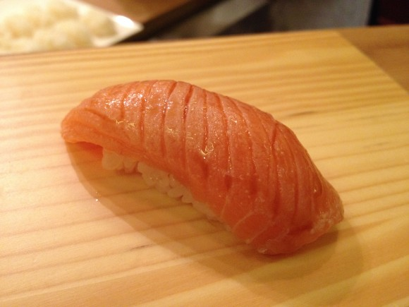 seared king salmon