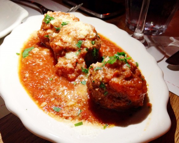 bar primi - stuffed meatballs