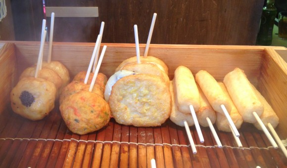 fish cakes on a stick