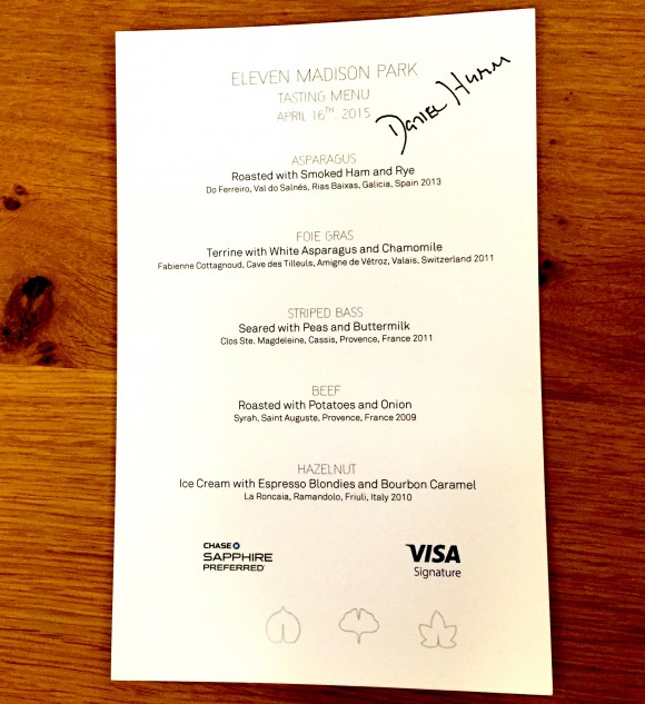 tasting menu signed by chef daniel humm