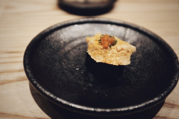 monk fish liver from maine with ponzu sauce
