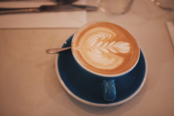 a flat white to start off the day