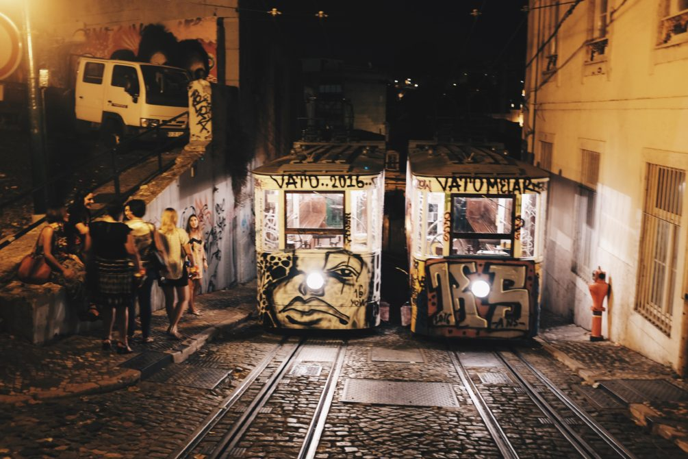 night trams and street art in lisbon