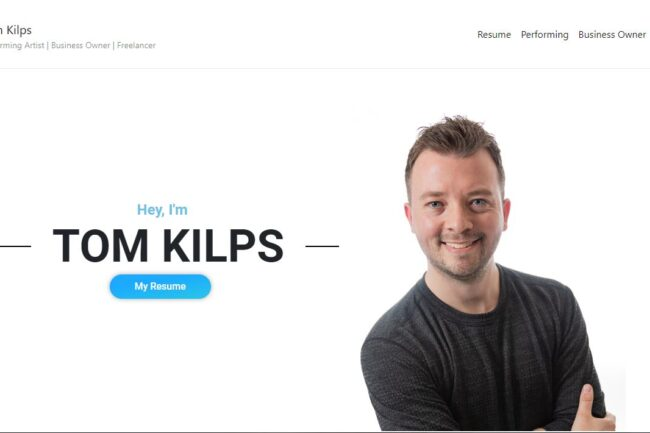 Tom Kilps personal website