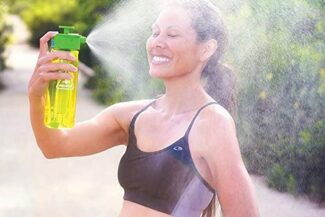 Lunatec Aquabot sport water bottle - a pressurized mister, camp shower and hydration in one. Portable running water for your pocket. BPA free 2
