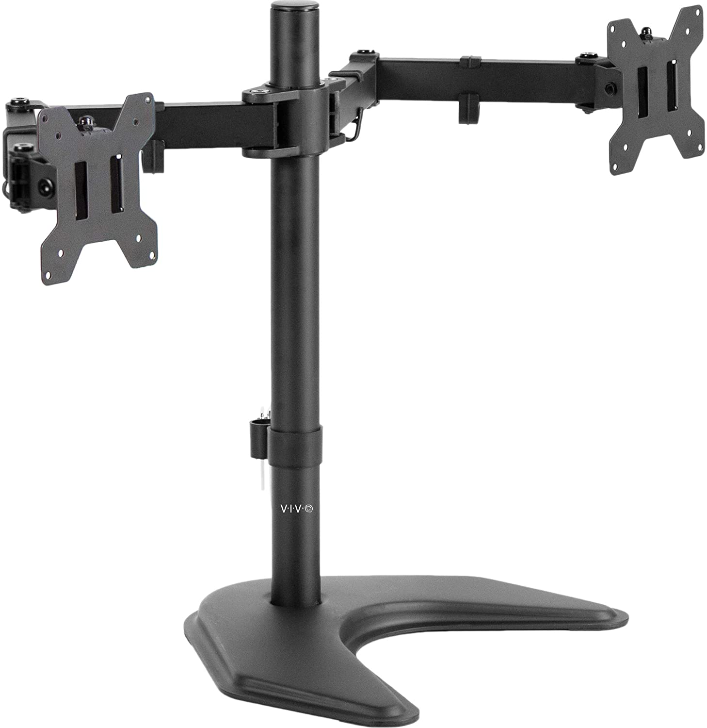VIVO Dual LED LCD Monitor Free-Standing Desk Stand for 2 Screens up to 27 inches VESA -1
