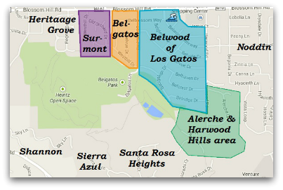 Belwood Belgatos Surmont and nearby area map - Welcome