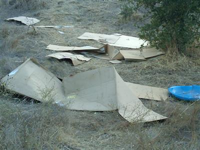 Cardboard 3 Custom - Cardboard Hill in Belgatos Park: Remember to Clean Up After You Play!