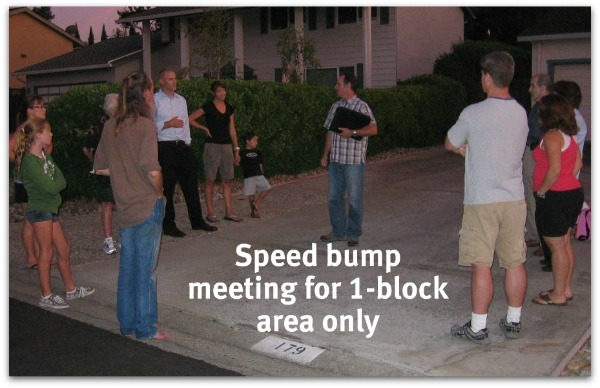 Speed hump mtg 600 - Meeting for Belwood Gateway between Harwood and Bacigalupi to further discuss speed hump and its location