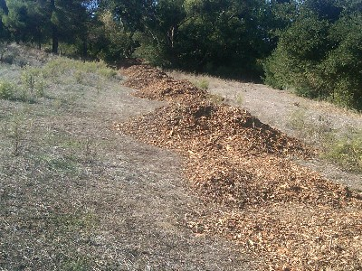 Bark for trail - Belgatos Path Gets New Wood Chips