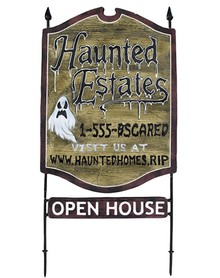 Haunted RE Sign - Belwood Annual Halloween Party, Haunted House Events: Details & Request for Volunteers