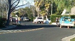 Belblossom police neighbors PGE tiny - Sound of explosion at Belblossom and Westhill, gardener injured, in east Los Gatos