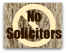 No Solicitors - Solicitors out in force in east Los Gatos