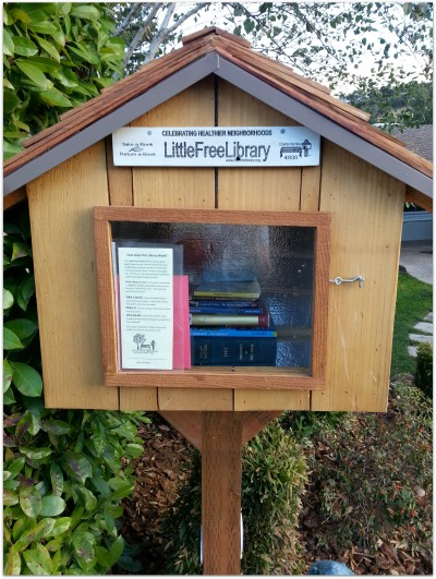 Little Free Library for blog - Little Free Library in Belwood of Los Gatos!