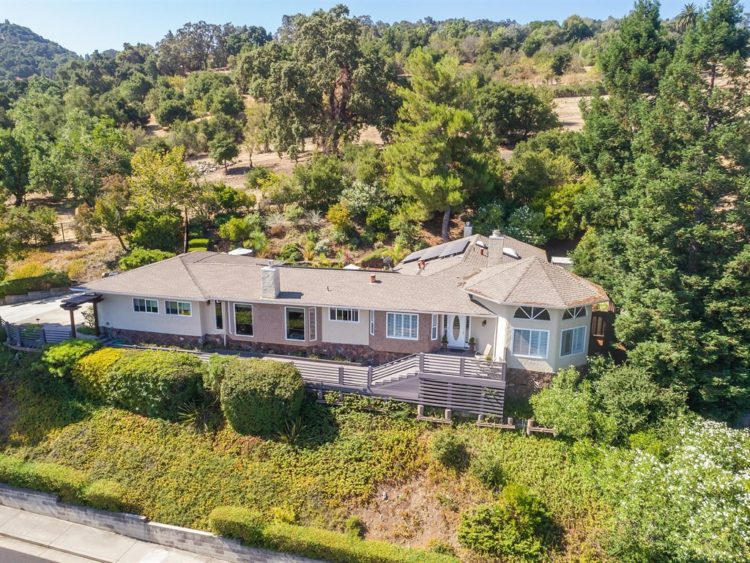 001 211 Westhill Drive Los Gatos CA 95032 Arial View of Front 750x563 - Gorgeous Belgatos view home!