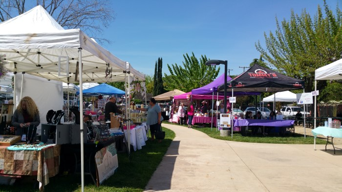 2019 04 14 Belwood Craft Fair with many booths - Spring Craft Fair at the Belwood of Los Gatos Cabaña