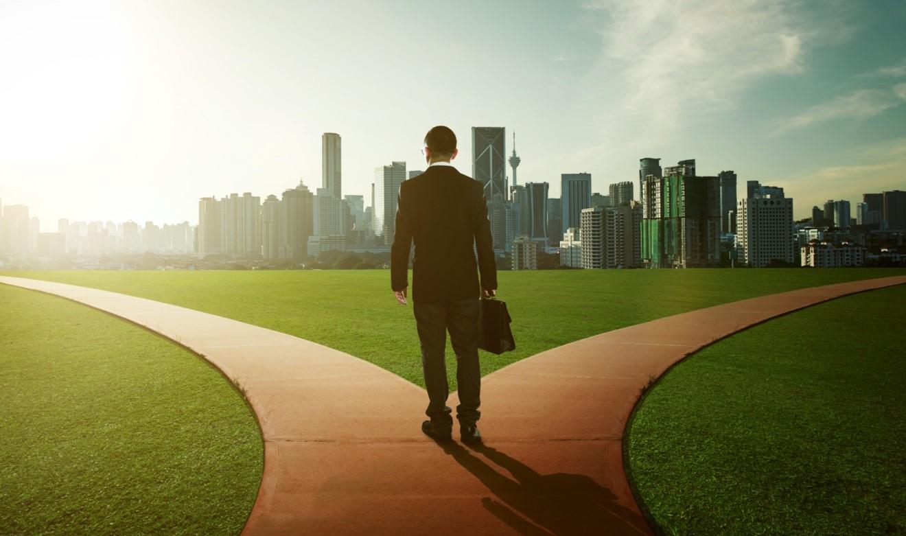 Businessman w City Backdrop