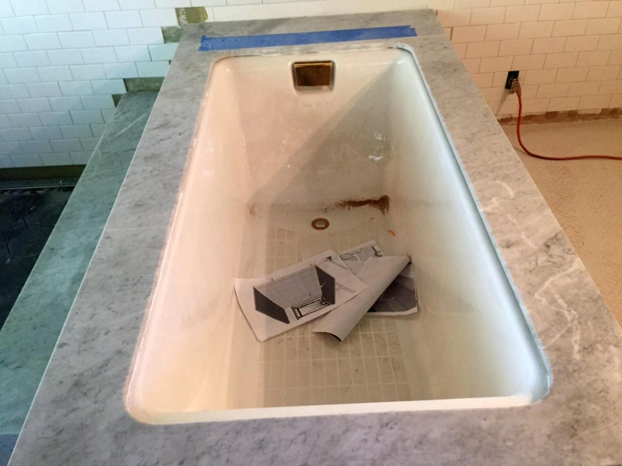 Marble Bathtub for Santa Rosa Project