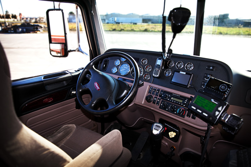 The inside of a Northern Refrigerated Transportation semi truck