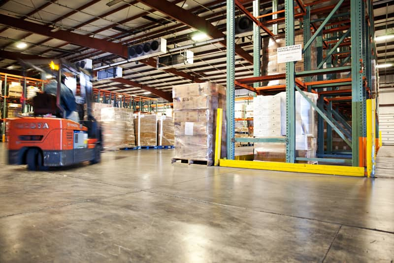The inside of the Northern Refrigerated Transportation and Poppy State Express warehouse and crossdock