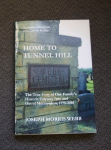 """Webb's new book entitled, """"Home to Tunnel Hill."""""""