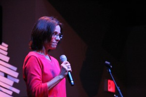 Dr. Paula Qualls speaks at The Gathering. Photo by: Elizabeth Banfield