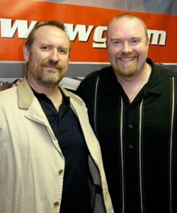 Noel Manning, right, before his weight loss.
