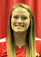 Sydney Marshall, sophomore middle blocker on the volleyball team.