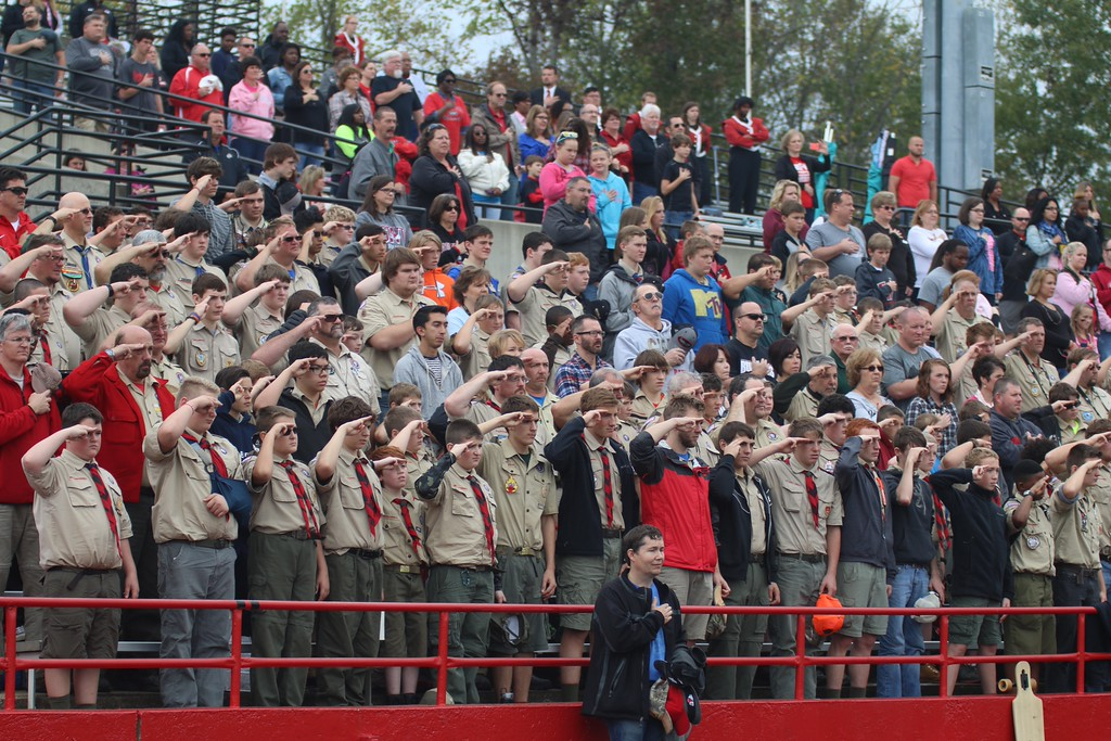 The Boy Scouts visited GWU's campus this weekend and watched the game on Saturday. Photo by Megan Hartman.