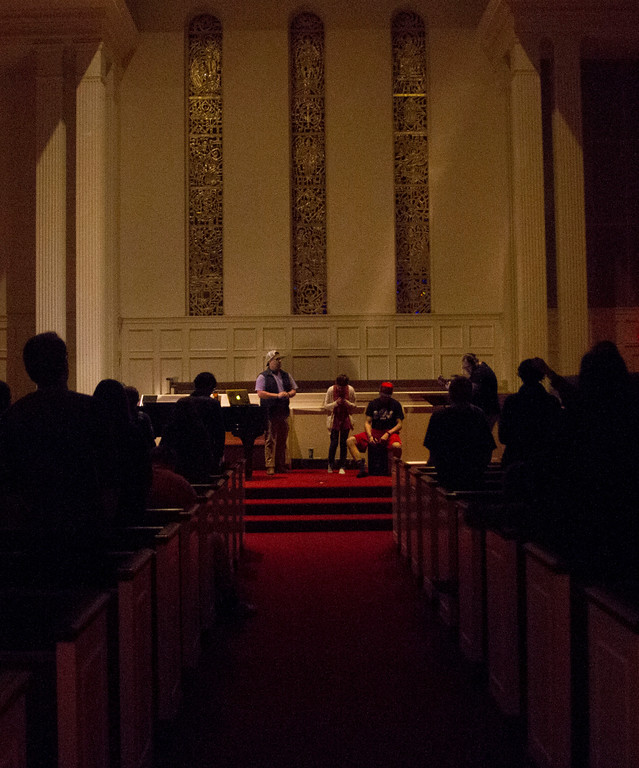 Students gathered in the Dover chapel to finish out celebration week with a worship service. Photo by Elizabeth Banfield
