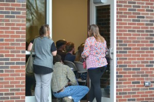 The meeting was a packed house. Concerned citizens stood outside open doors just to hear. Photo by Madison Weavil