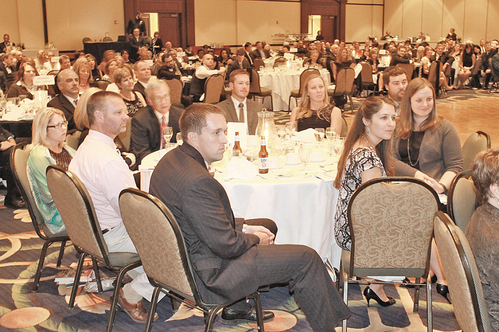 Celebration Attendees crowded at Hotel Roanoke and Conference Center ballroom Friday, Oct. 23. at TAP's 50-year celebration.