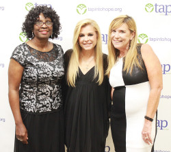 From left: TAP president Annette Lewis with Leigh Anne Tuohy (Blind Side) and Kimberly Butler, TAP chief financial officer at the organization's 50th Anniversary celebration. (Photos by S. Nowlin)