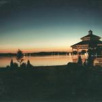 Lakeside Gazebo at Night